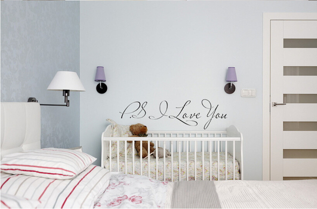 P.s. I Lobe You Loving Casa Wall Decal Removable Vinyl Wall Stickers Quote  Bedroom Home Decor
