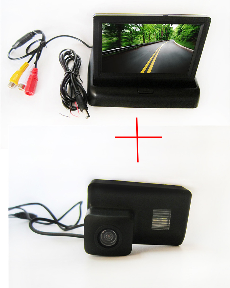 Color Car Rear View Camera for <font><b>Peugeot</b></font> 206 207 306 307 <font><b>308</b></font> 406 407 5008 Partner Tepee ,with 4.3 Inch foldable <font><b>LCD</b></font> Monitor image