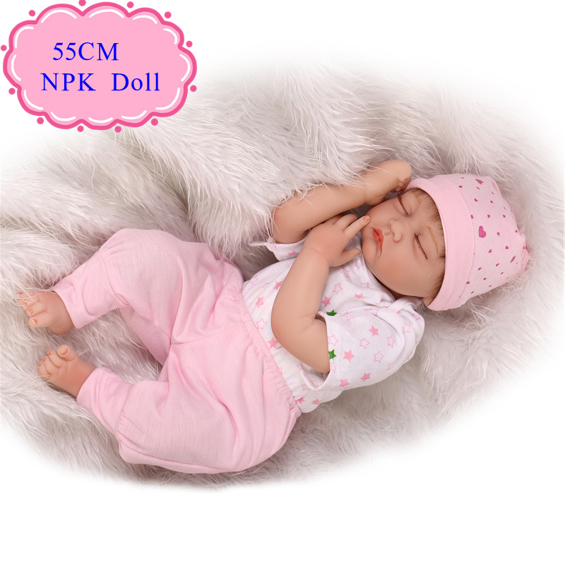 High Quality 55cm 22 '' Sleeping Baby Girl Doll Reborn Baby Dolls Best Price Bebes Reborn Menina Hot Sell Gift For Babys As Toy