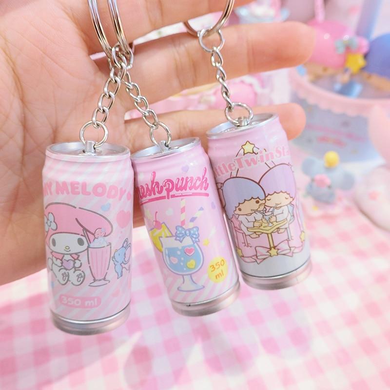 Kawaii Little Twin Stars My Melody Pop-top Can Keychain