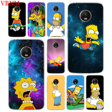 Bart Simpson Fantasy Silicone Patterned Case For Motorola G5 G5S G6 E4 E5 G7 Plus Moto G4 Play Art Customized Cover Cases