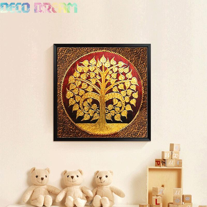 decorations pour le corridor Full Diamond Painting Bodhi Tree Diy Diamond Embroidery Painting Wonderful  Thai Style For Corridor Decoration A Gift For Family-in Diamond Painting  Cross ...
