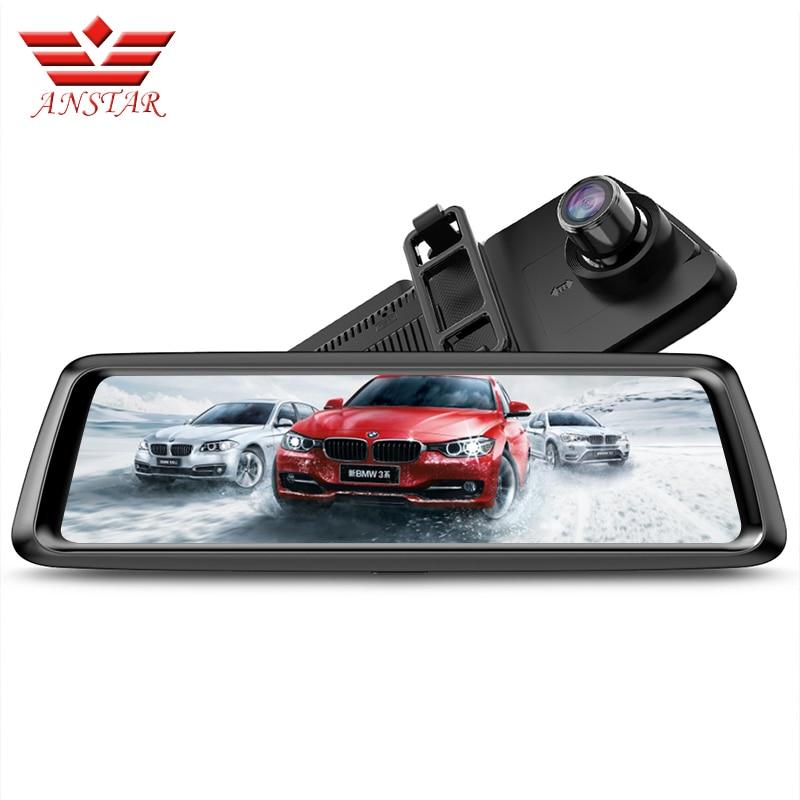 ANSTAR 1080 p Dvr Dash Caméra 10 ''Tactile Écran Voiture DVR Vidéo Enregistreur 4g ADAS Parking Vue Arrière rétroviseur Moniteur Caméra