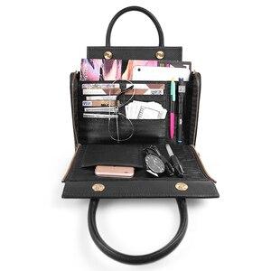 Image 2 - Sapateiro lenda super organizador bolsa de couro genuíno preto saco do mensageiro designer alça superior bolsas femininas tote macio satchel 2019