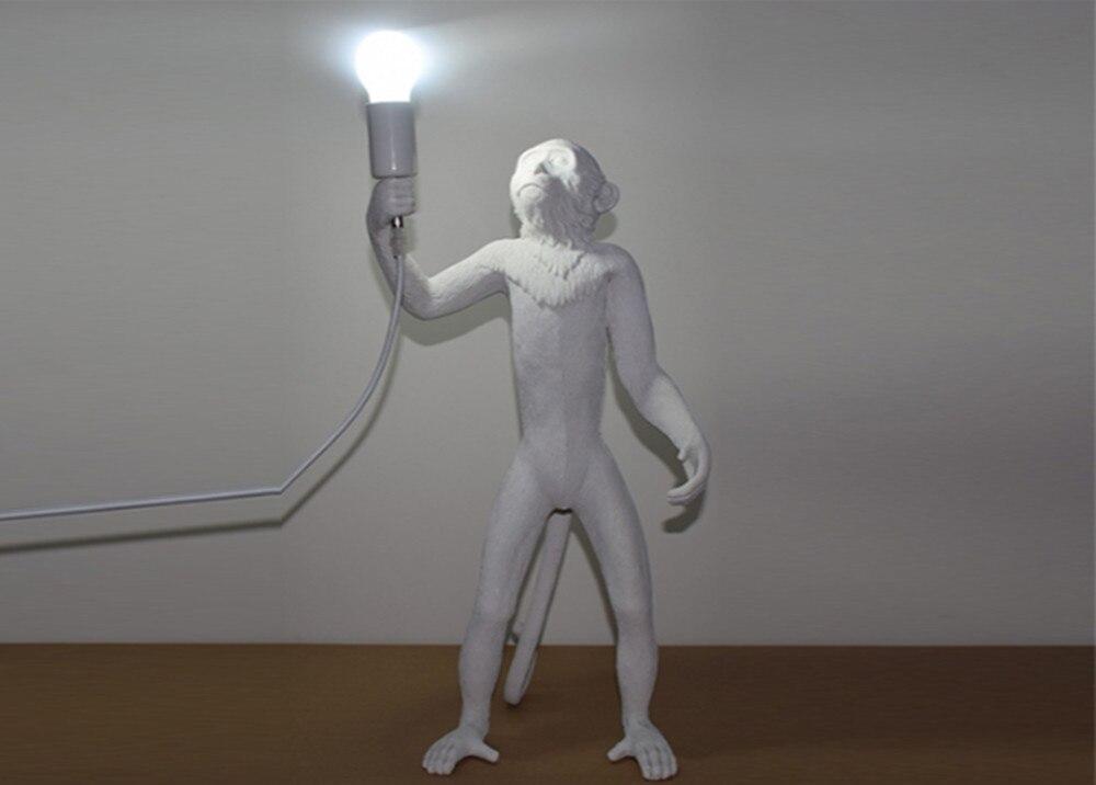 Nieuwe aap staande lamp witte hars moderne aap floor light led