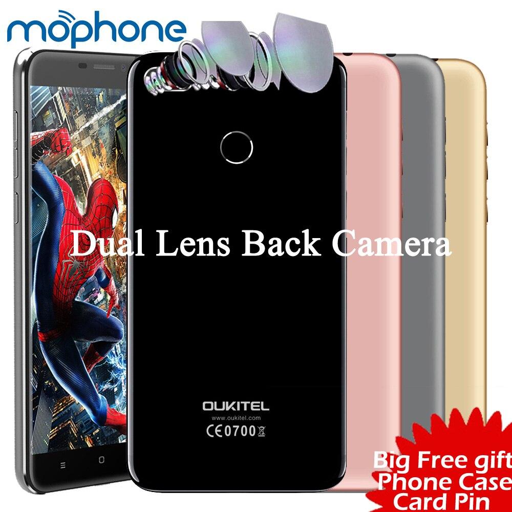 Цена за Oukitel u20 плюс 4 г смартфон 5.5 дюймов ips 1080 * 1920px mtk6737t quad core 2 ГБ + 16 ГБ с двумя объективами камеры 3300 мАч батареи