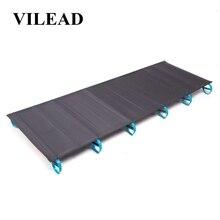 VILEAD алюминиевые сверхлегкие складные кемпинговые кроватки удобная портативная Водонепроницаемая кровать для самостоятельного вождения путешествия кемпинговые кровати 180*58 см