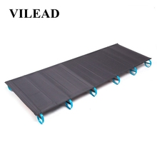 VILEAD Ultralight Folding Camping Cots Aluminum Bed Comfortable Portable Waterproof for Self-drive Travel Camping Beds 180*58 cm все цены
