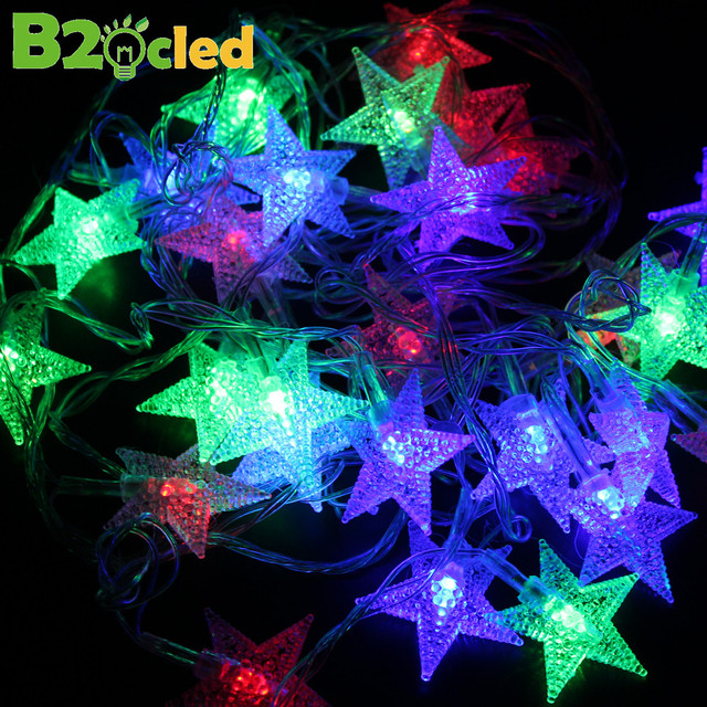 5 styles 8 mode flash of christmas lights 5m color led lights remote control rain ra