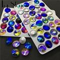 All Sizes Colored AB Rivoli Crystal Glass Fancy Stone 6mm 8mm,10mm,12mm,14mm,16,18mm Jewelry Stones Amethyst,Fuchsia AB
