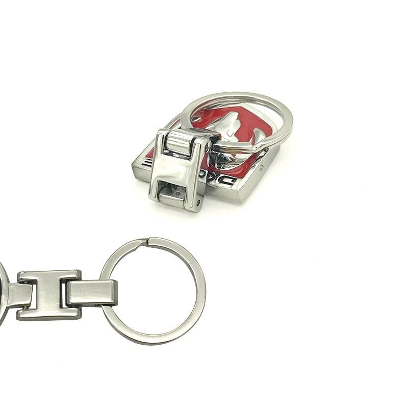 for dodge Ram Caliber Journey Caravan Durango SRT logo Keychain Zinc Alloy Key Chain Car Key Ring Luxury car styling zinc alloy key chain pendant