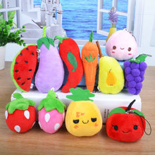 1 Piece Baby Kids toy Soft eco-friendly fruits/vegetables toy newborn gift kawaii play food plush toy Wholesale(China)