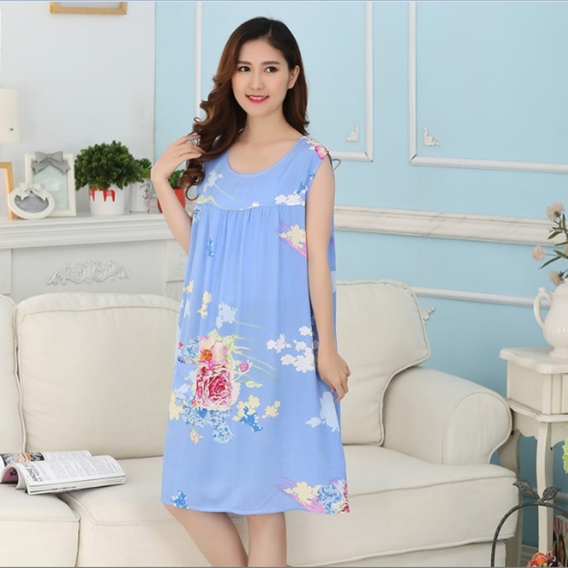Women Cotton   Nightgowns   &   Sleepshirts   2019 Summer Style Women Nightdress Bath Robe Longue Bathrobe Sleepwear Homewear
