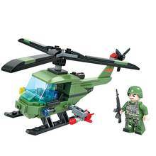 Winner 8017 Armed helicopter Army Military Soldiers Tank Guns Building Blocks Bricks Star War Lepin toys for children