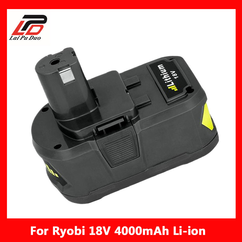 Brand New Rechargeable Battery Pack Power Tool Battery For Ryobi 18V 4Ah P108 RB18L40 Lithium Ion free shipping 502730 rechargeable brand new 3 7v lithium battery pack with high capacity 350mah for multi functional use