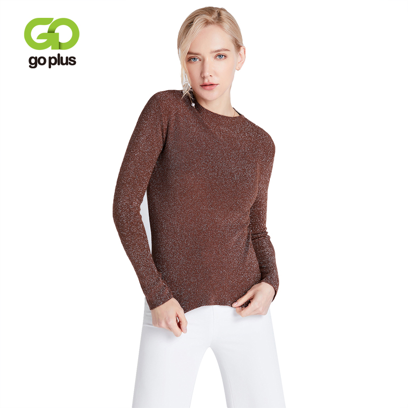 GOPLUS Sweater Women Casual Autumn Winter Round Neck Full Sleeve Pullovers Knitted Womens Basic Tops Female Cloth