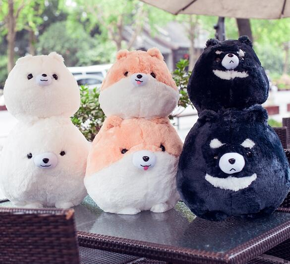 30cm/45cm Simulation Stuffed Animal Cute Pomeranian Dogs Plush Toys Pomeranian Party Animal Dolls Soft Gifts for Kids