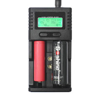 2 slots LCD fast smart battery charger tester for 9V 1.2V nicd ni mh 3.7v li ion 3.2v lifepo4 AAA AA 18650 26650 16340 cell