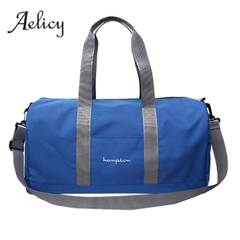 99ca68332 Aelicy de nylon bolsa de viaje de las mujeres hombres con bolso de hombro  mano bolsa de equipaje deportes bolso de fin de semana de alta capacidad