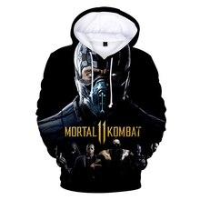 Толстовка Mortal Kombat 11, толстовка Kawaii с 3D принтом, одежда для мальчиков и девочек, повседневные толстовки Kpop большого размера для детей, 2019