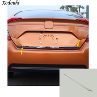 Car Styling Stick Body Rear Door Tailgate Bumper Frame Plate Trim Lamp Trunk Molding For Honda