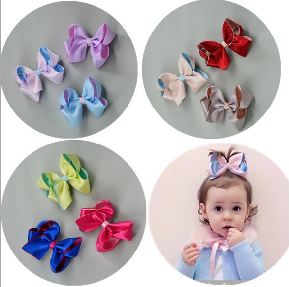 20pcs/lot Cutie Babygirl Handmade Ribbon Butterfly Bobby Pin Hairpin Hair Decors Kids Birthday Party Costumes Favors