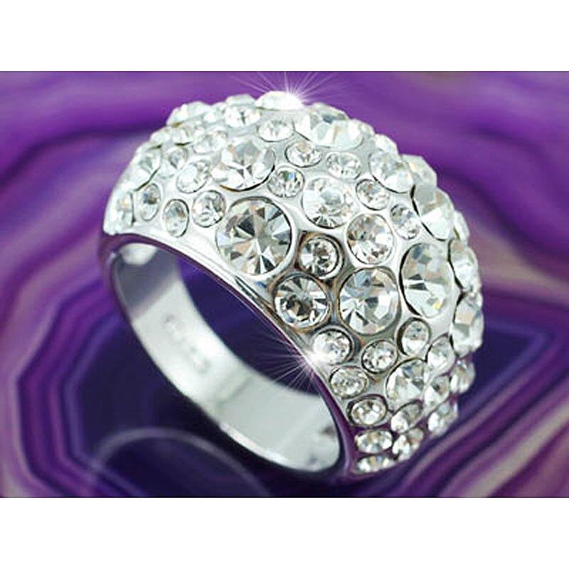Peacock Star Sparkling Quality Ring use Austrian Crystal CSR084