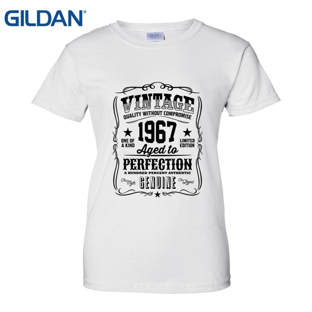 Made In 1967 50th Year Birthday Age Born Present T Shirt Fashion New Top Tshirts Printing