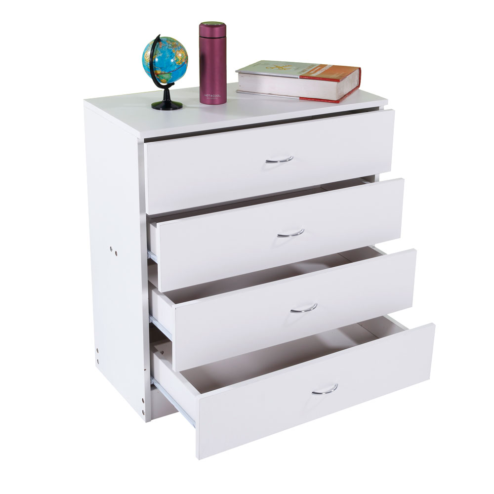 Mdf Wood Simple 4 Drawer Bedroom Stands