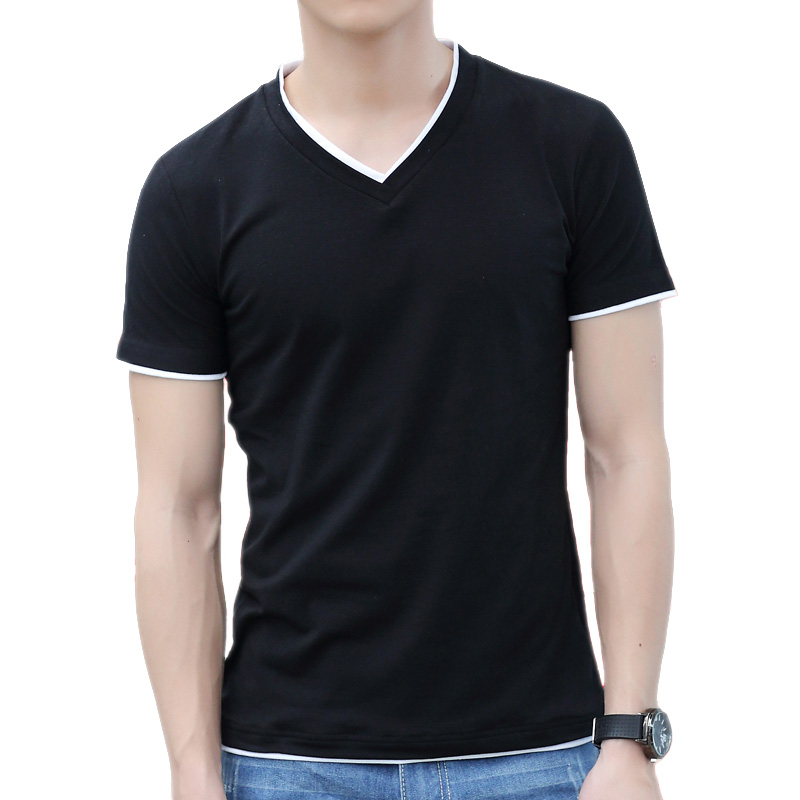 Men's Black V Neck T Shirt Reviews - Online Shopping Men's ...