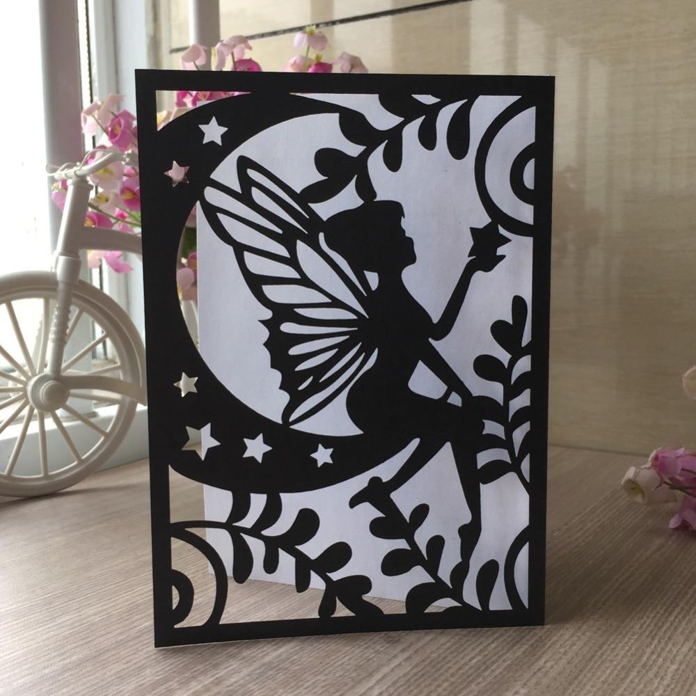 45pcs Fairy Tale Laser Cut Wedding Card