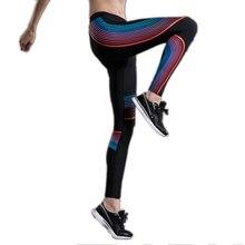 Free shipping Women Sports Yoga Tights Pants Elastic Fitness Leggings Sports Trousers 4FYG1009