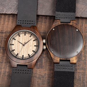 Image 3 - Relogio masculino BOBO ptak drewno hebanowe zegarek mężczyźni japonia ruch kwarcowy drewniane zegarki erkek kol saati męska prezent zaakceptować Logo