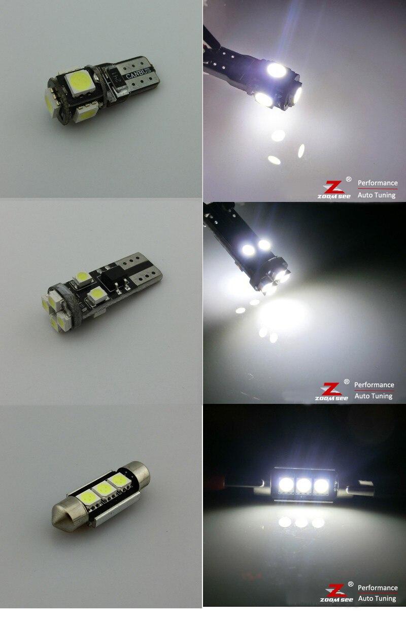 24 шт. x Canbus безошибочный светодиодный светильник для внутренней купольной карты комплект посылка для 1998 до 2004 Audi A6 S6 C5 Avant Wagon