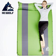 Hewolf Double inflatable Cushion Air Mattress Outdoor Beach Mat Camping Inflatable Sleeping Pad Yoga With Pillow