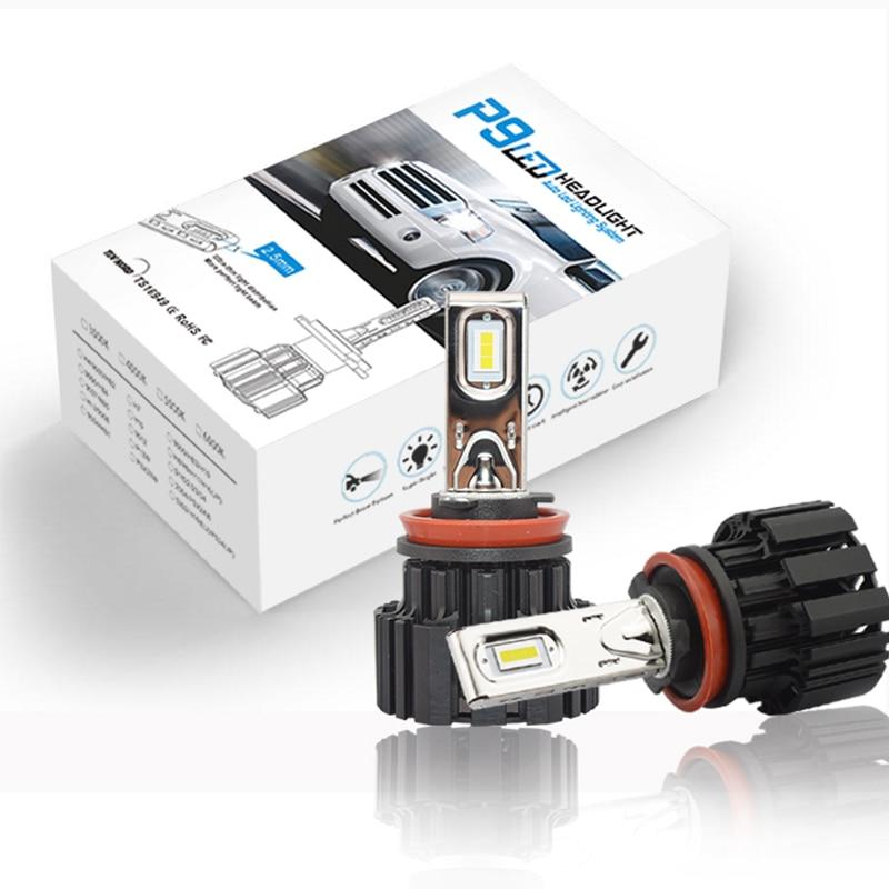 P9 H8 H11 H4 Hi lo Car LED Headlight Bulbs H7 9005 9006 100W 13600LM 6500K ZES Led Auto Headlamp LED Lamp Lighting Bulb 12v 24v h11 car lights led 6500k 6000lm zes headlight bulbs lamp for h11 h8 h9 auto headlamp bulbs lamps car light accessories styling