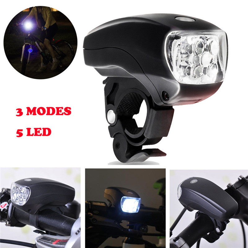 C3 New Cycling Bike Bicycle Super Bright 5 LED Front Head Light Lamp 3-Modes Torch Waterproof 4 Function