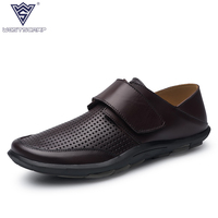 Big Size 36 47 High Quality Genuine Leather Men Shoes Soft Moccasins Loafers Fashion Brand Men