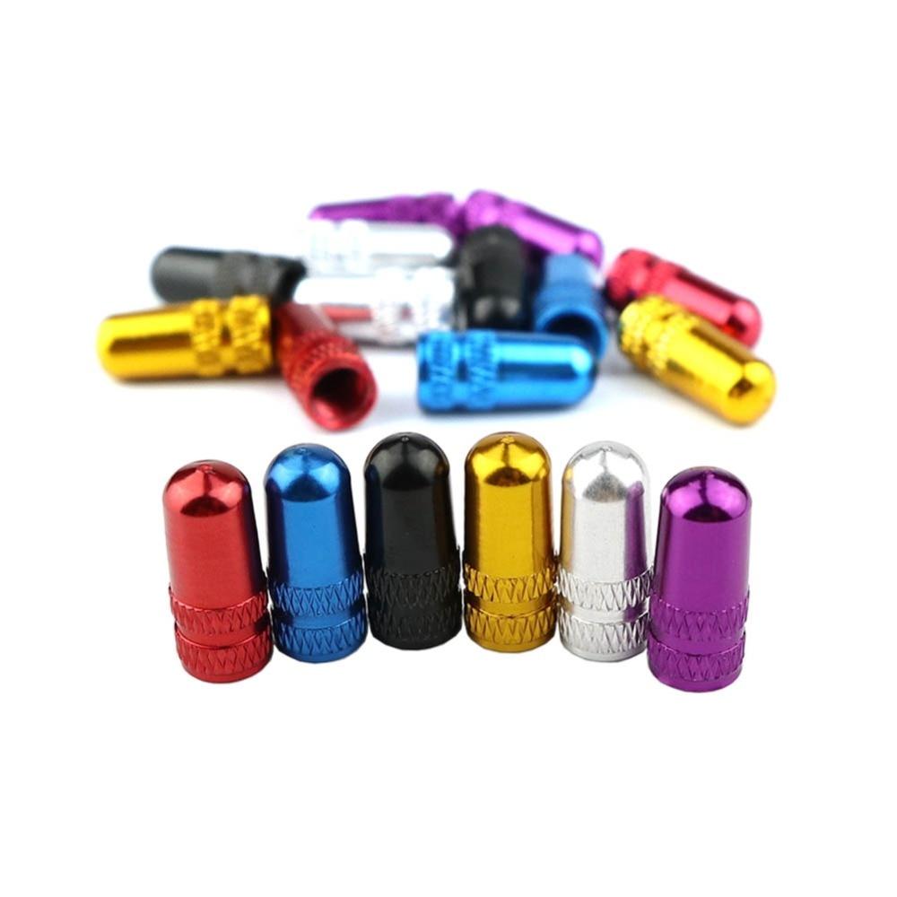 Protecteur couvert de pneus de bicyclette, 2 pièces/ensemble, 7 couleurs, pour vtt, france, capuchon de Valve Presta, anti-poussière, accessoires DC0202