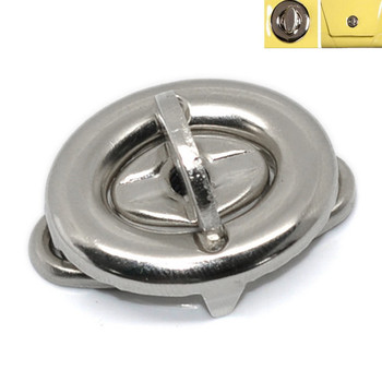 100 Sets/lot Silver Tone Oval Purse Twist Turn Lock Clasps For Coin Bag 17x33mm(5/8x1 2/8)