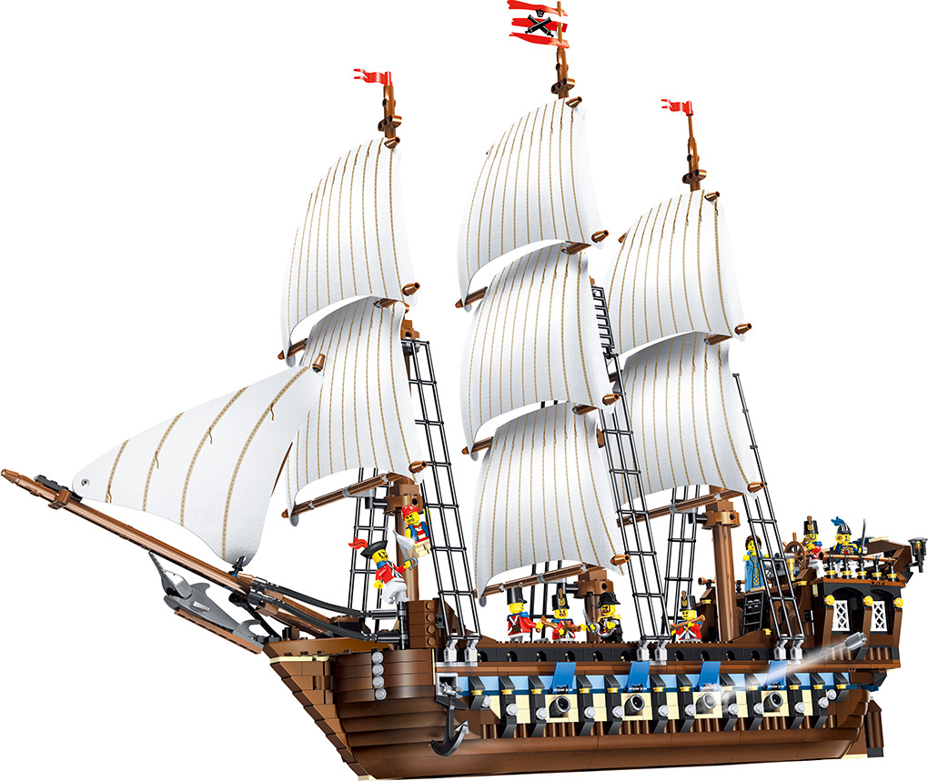 39010 Pirate Ship warships Model Building Kits Block Briks Toys For Children Gift 1779pcs Compatible 10210