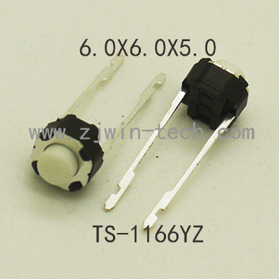 1000PCS 6x6x5 4 3mm Middle 2PIN DIP Long Pin Mini Push Button Switch for Audio PCB