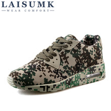 2019 LAISUMK Camouflage Unisex Shoes Slipony Men Height Increase Male Comfort Footwear