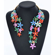Alloy Collar Full Rhinestone Exaggerated Necklace Short Clavicle Chain Accessories Boutique