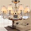 Ceiling fans Anion stealth fan lamp fan light LED zinc alloy crystal european-style remote control lamps 8 Heads ceiling fan