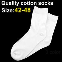 Big Size 42 48 Bamboo And Cotton Fiber Men Sock High Quality Sock Casual Sport Socks