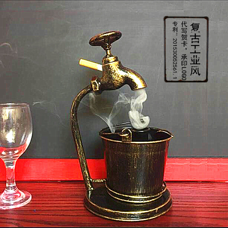 Creative Ashtray Decoration Cigarette Cigar Accessories For Living Room Coffee Table