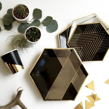 1 pack Creative Paper Plate Cups Table Napkins Black Color With Gold Foil Bronzing High Quality & Buy high quality paper plates and get free shipping on AliExpress.com