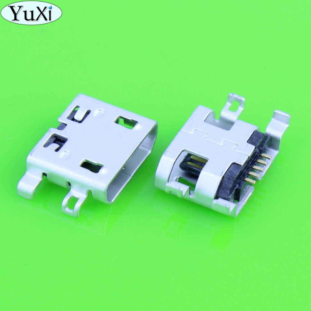 YuXi 10pcs Tablet PC Mobile Phone Micro USB Charging Socket Jack For Lenovo S6000 S6000F S6000H / For ZTE / For HTC / For Huawei