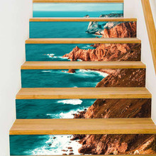 Fashion creative home new stair stickers decoration stairs renovation anti-fouling waterproof self-adhesive paper